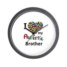 Autistic Brother Wall Clock