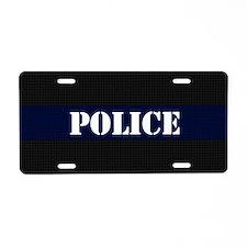 Police Carbon Fiber Aluminum License Plate