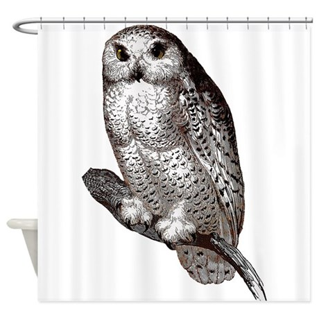 Snowy Owl Shower Curtain By Wildlifelover