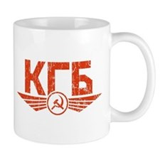 KGB Emblem Red Mug
