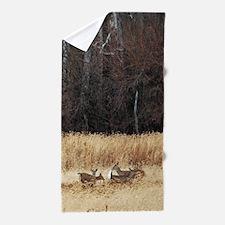 Winter Deer Herd Beach Towel