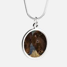 Little Teacher Silver Round Necklace