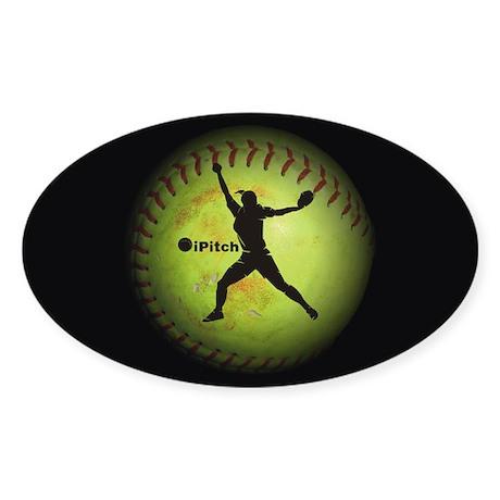 iPitch Fastpitch Softball (right handed) Sticker