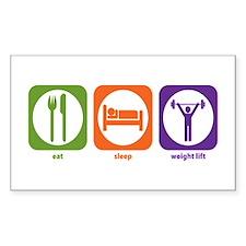 Eat Sleep Weight Lift Rectangle Decal