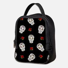 Sugar Skulls and Roses Neoprene Lunch Bag