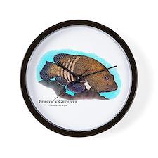 Peacock Grouper Wall Clock
