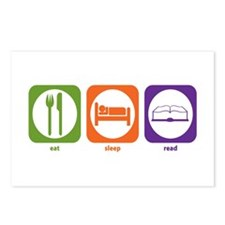 Eat Sleep Read Postcards (Package of 8)