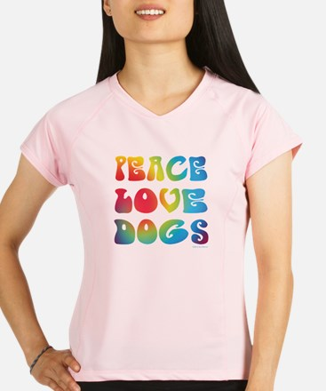 Peace Love Dogs Tiedye Performance Dry T-Shirt