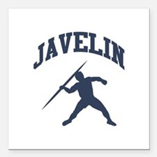 "Javelin Thrower Square Car Magnet 3"" x 3"""