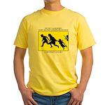 Border Crossing Sign Yellow T-Shirt