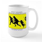 Border Crossing Sign Large Mug