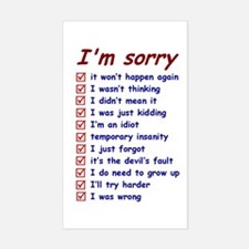 Good Excuses Decal
