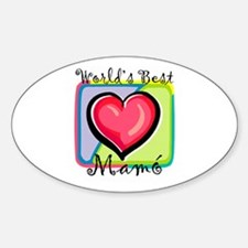 WB Grandma [Irish Gaelic] Oval Decal