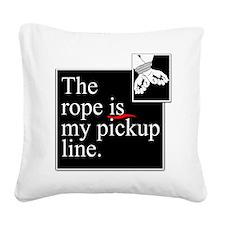 Pickup Line Square Canvas Pillow