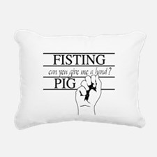 Fistee Oval Hat.png Rectangular Canvas Pillow