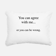 Agree Rectangular Canvas Pillow