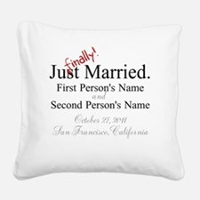 Finally Married Square Canvas Pillow