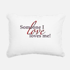 Someone Button.png Rectangular Canvas Pillow