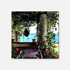 "La Jolla Arbor, Guy Rose pa Square Sticker 3"" x 3"""