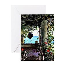 La Jolla Arbor, Guy Rose painting Greeting Card