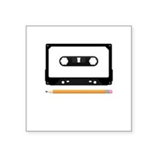 "Tape Deck Square Sticker 3"" x 3"""
