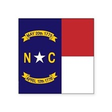 North Carolina Flag, NC State Flag Square Sticker