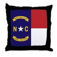 North Carolina Flag, NC State Flag Throw Pillow
