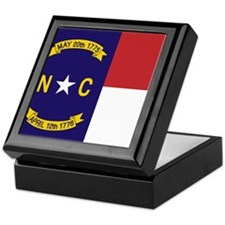North Carolina Flag, NC State Flag Keepsake Box