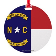 North Carolina Flag, NC State Flag Round Ornament
