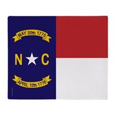 North Carolina Flag, NC State Flag Throw Blanket