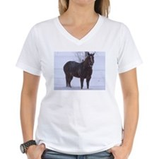 Lady in Snow T-Shirt