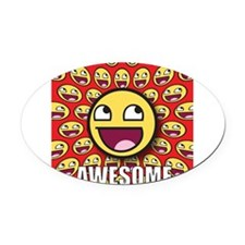 1CAFEPRESS awesome1 Oval Car Magnet