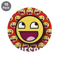 """1CAFEPRESS awesome1 3.5"""" Button (10 pack)"""