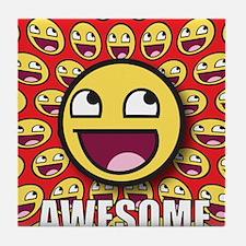 1CAFEPRESS awesome1 Tile Coaster