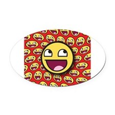 1CAFEPRESS awesome2 Oval Car Magnet