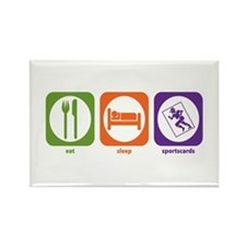 Eat Sleep Sportscards Rectangle Magnet (100 pack)