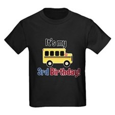 School Bus Its my 3rd Birthday T-Shirt