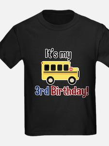School Bus Its my 3rd Birthday T-Shirt