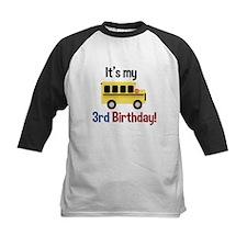 School Bus Its my 3rd Birthday Baseball Jersey