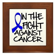 In The Fight Colon Cancer Framed Tile