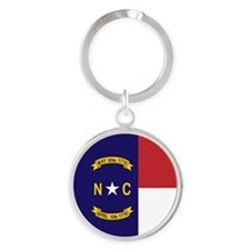 North Carolina Flag, NC State Flag Round Keychain