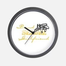 Cute Retired spouse Wall Clock