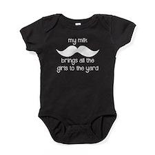 Milk Mustache Baby Bodysuit