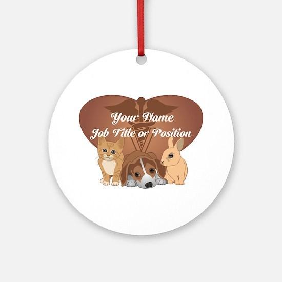 Personalized Veterinary Ornament (Round)