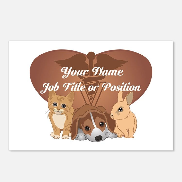 Personalized Veterinary Postcards (Package of 8)