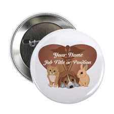 "Personalized Veterinary 2.25"" Button (10 pack)"