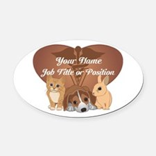 Personalized Veterinary Oval Car Magnet