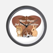 Personalized Veterinary Wall Clock