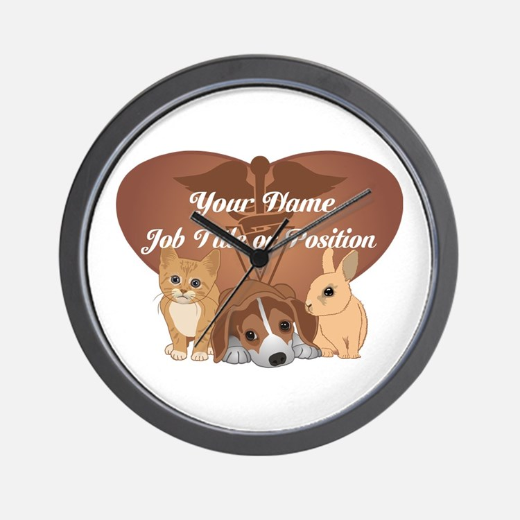 Personalized Veterinary Wall Clock