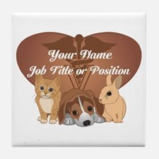 Personalized Veterinary Tile Coaster